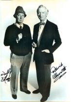 Dave Ellsworth and Wally O'Hara autographed, black and white photo